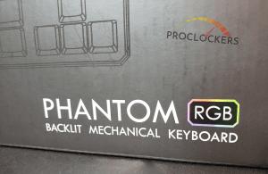 Phantom Logo on Front of RGB 87 Keyboard Package