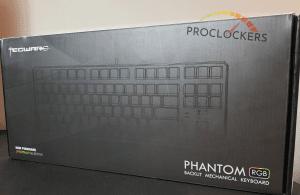 Front of Tecware RGB 87 Keyboard Box