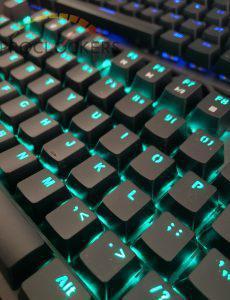 Tecware Phantom 104 Keyboard RGB overview of keyboard unpacked