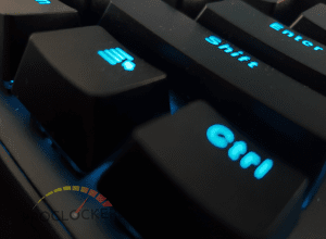 Phantom RGB 104 Keyboard unpacked ctrl key illuminated