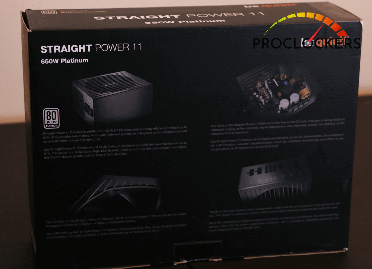 STRAIGHT POWER 11 PACKED BACK OF BOX SHOWING SPECS