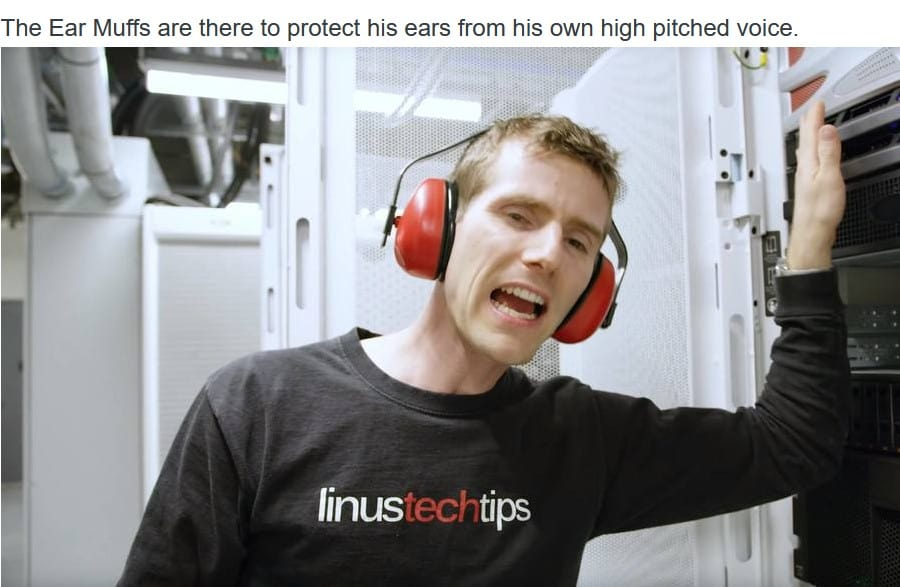 high pitched Linus Tech Tips Meme voice