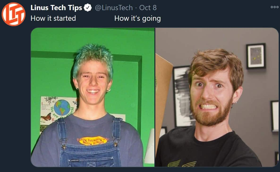 How It Started - Linus Tech Tips Meme