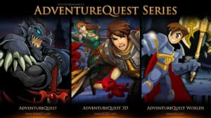 Banner of Adventure Quest Series, a free RPG game for any web browser
