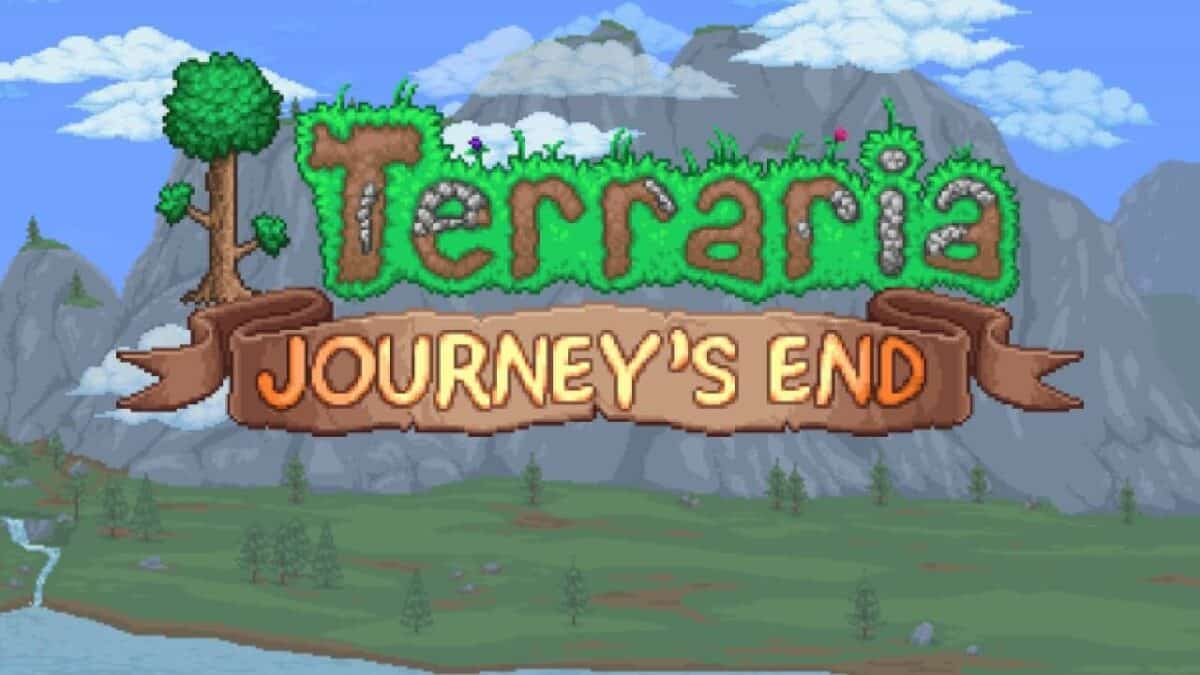banner of Terraria Journey's end update